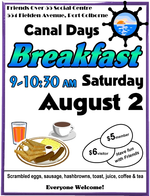 canal days breakfast