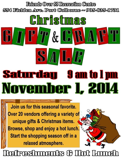 craft sale 2014 sign